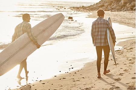 California Surfers Wearing Pendleton Board Shirts