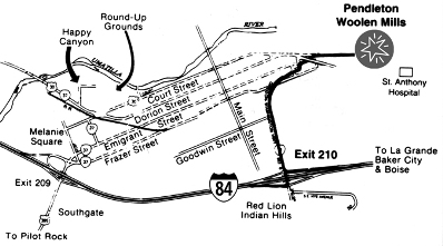 Map Showing Directions to Pendleton Mill Store