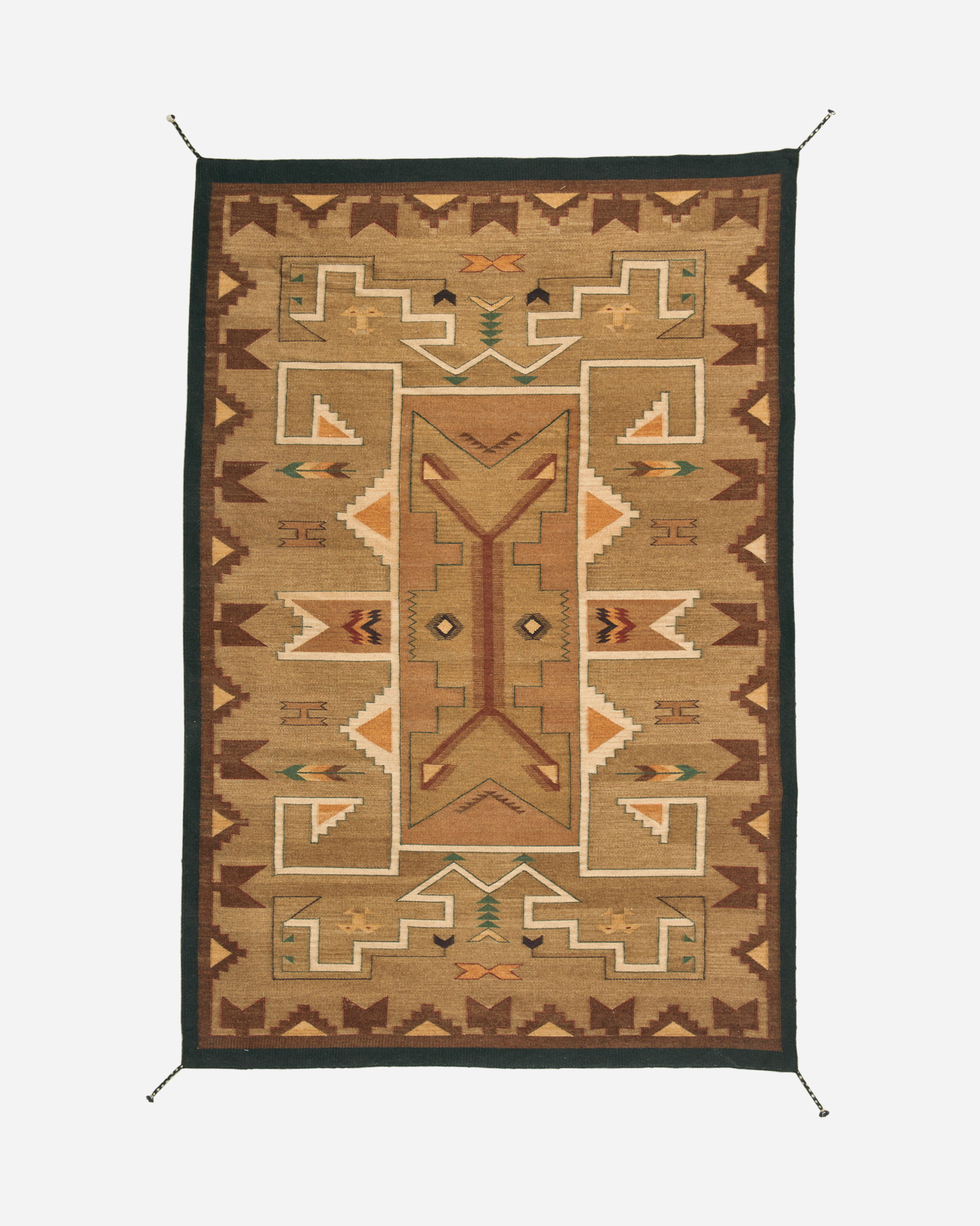 TEES LINCOLN KILIM RUG IN BEIGE/BROWN