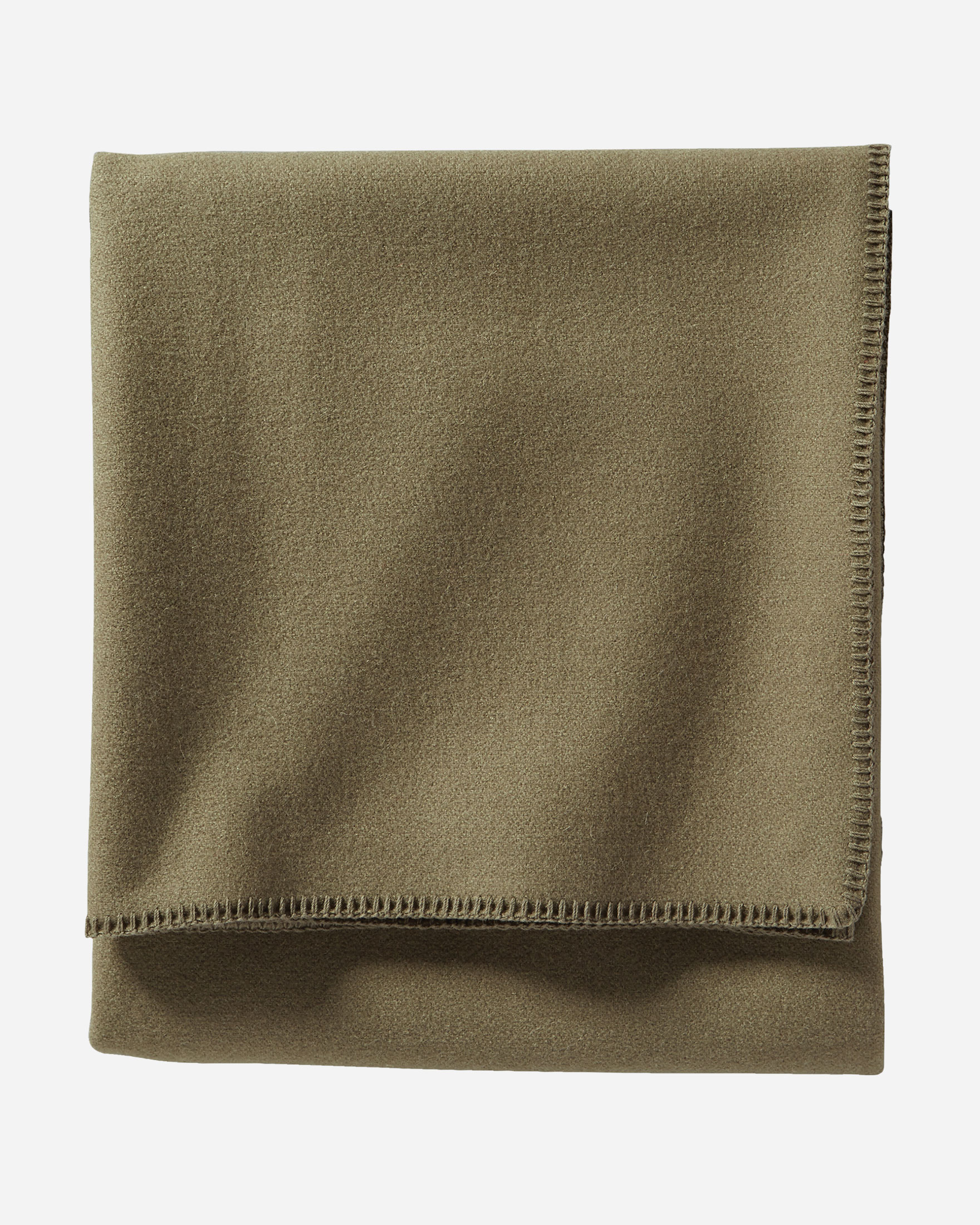 ECO-WISE WOOL SOLID BLANKET, CAPER, large