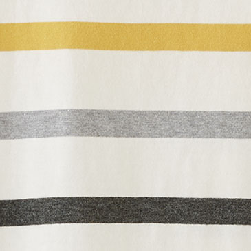 WOMEN'S DESCHUTES RINGER TEE, IVORY/GOLD STRIPE