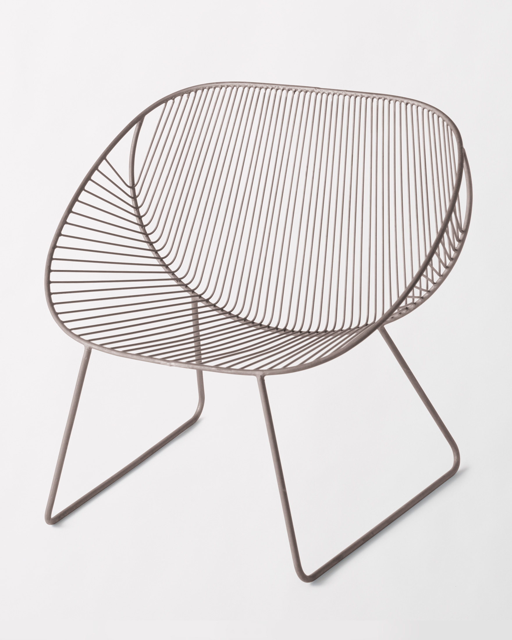 WIRE SCOOP CHAIR, IRON, large