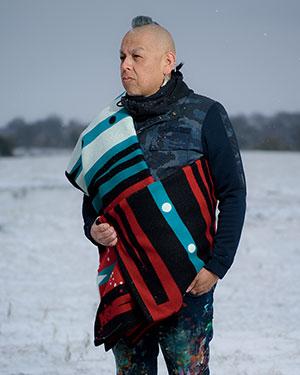 Bunky Echohawk with Pathway Blanket