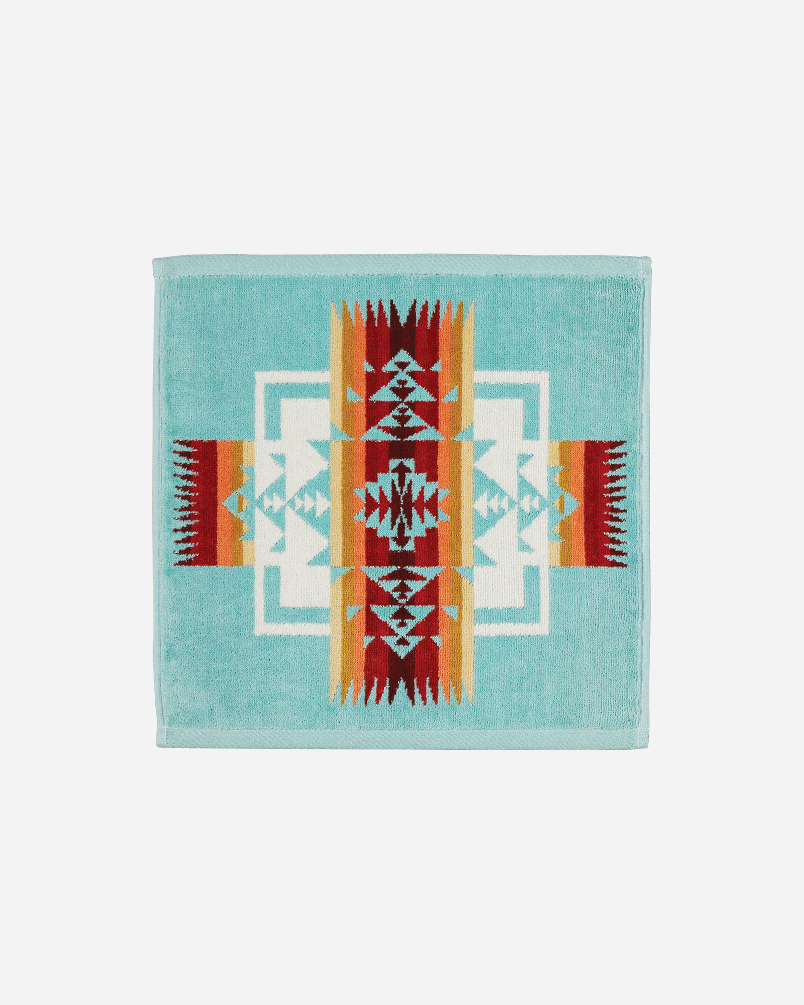 CHIEF JOSEPH WASHCLOTH IN AQUA