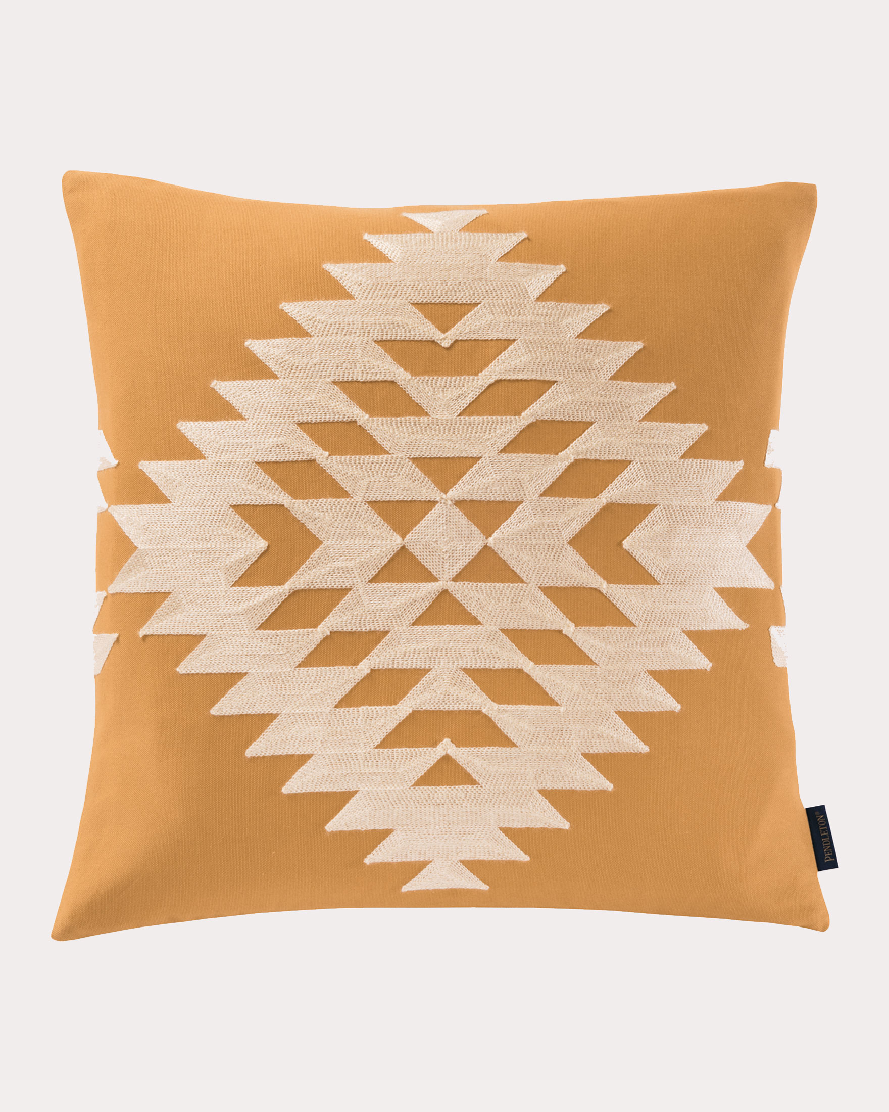 RANCHO ARROYO SQUARE EMBROIDERED PILLOW, CAMEL, large