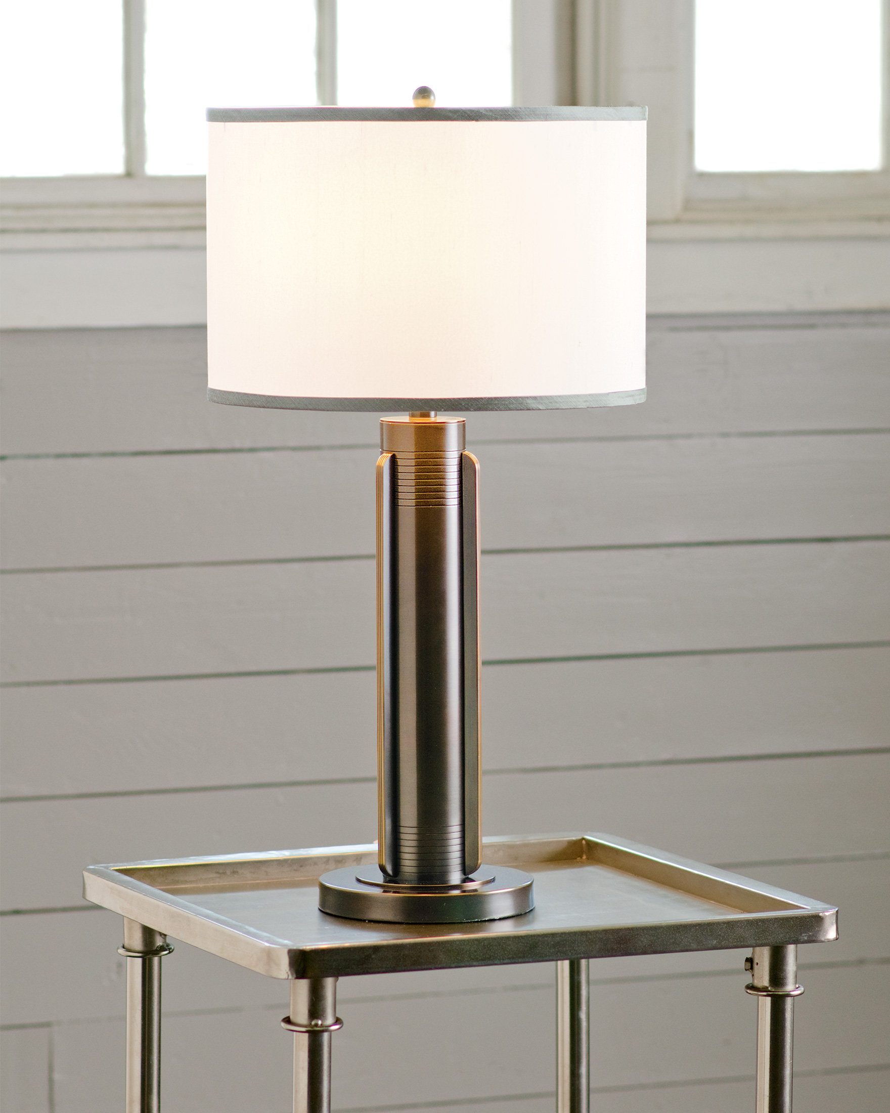 BELVEDERE LAMP, BRONZE/WHITE/GREY, large