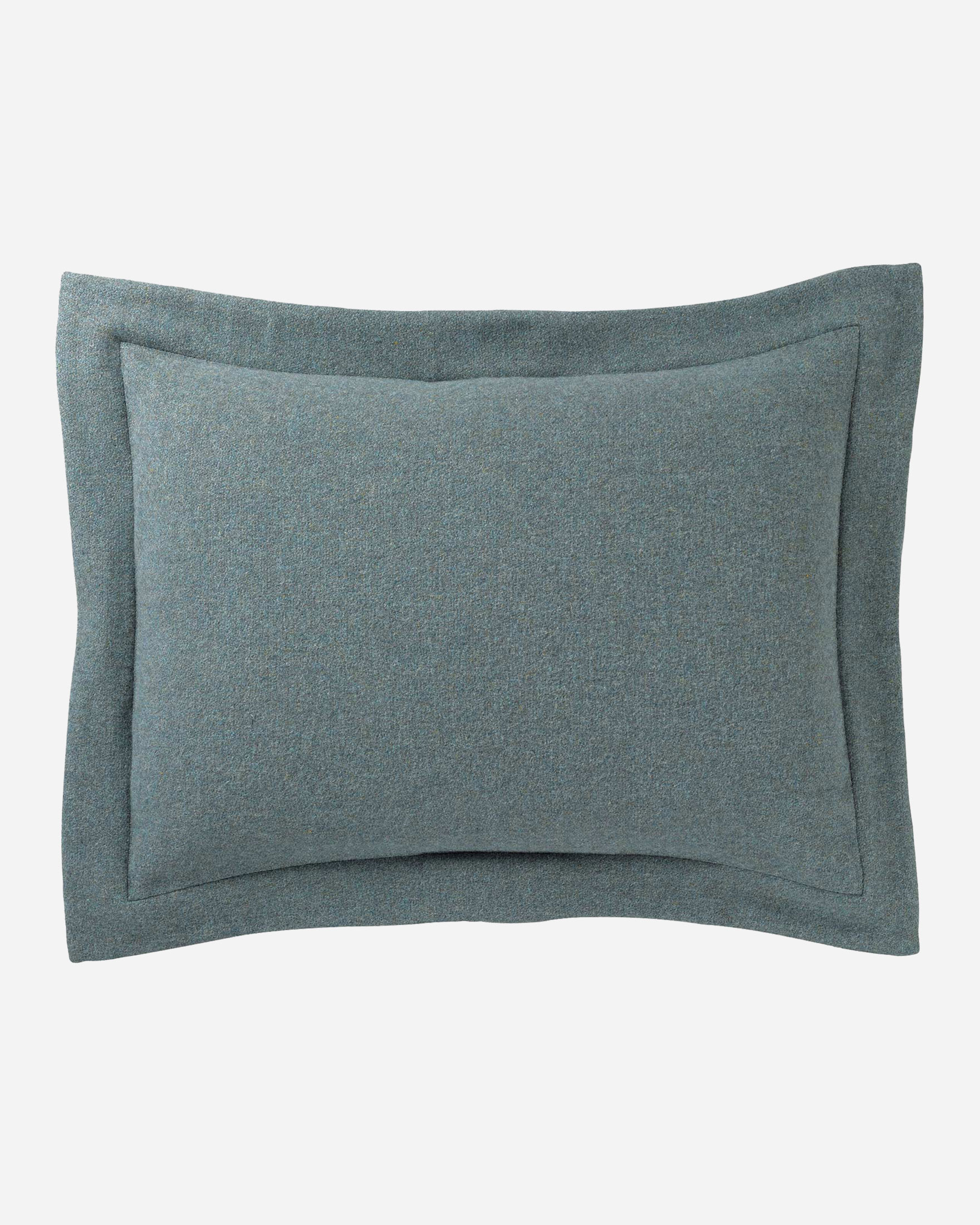 ECO-WISE WOOL EASY-CARE SHAM IN SHALE BLUE