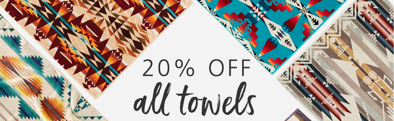 20% OFF ALL TOWELS