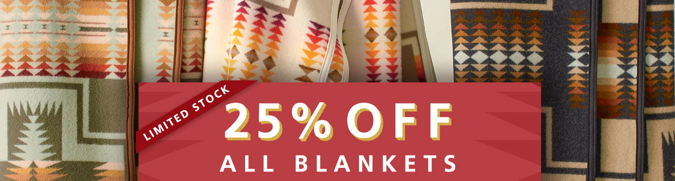 25% OFF ALL BLANKETS