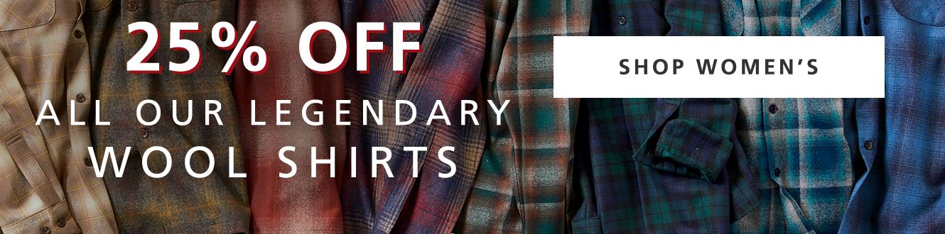 25% OFF ALL Womens Wool Shirts