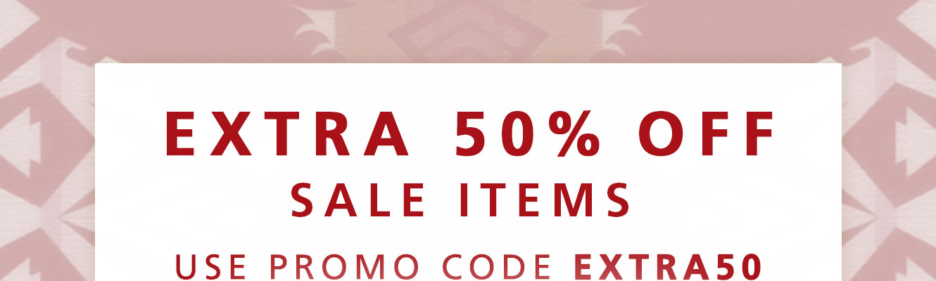 Extra 50% off sale items with code EXTRA50