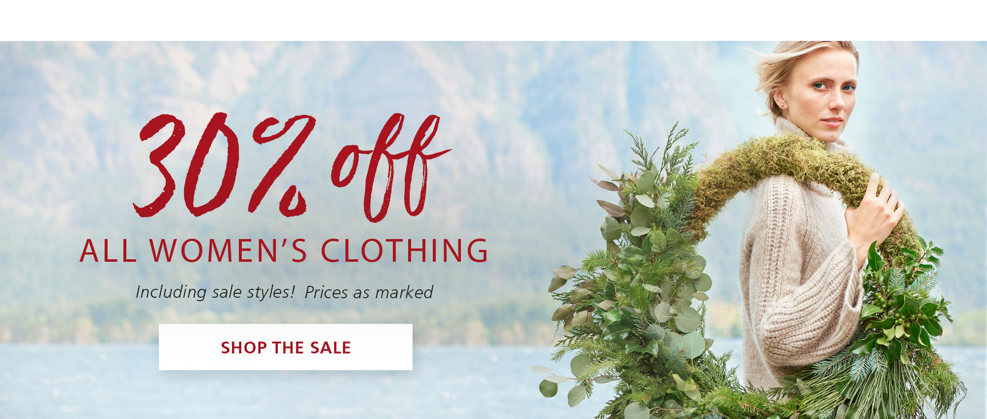 30% OFF ALL WOMEN'S CLOTHING