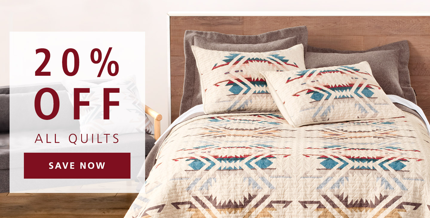 20% off all quilts